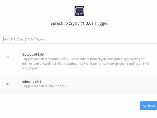 InboundTrigger - Zapier