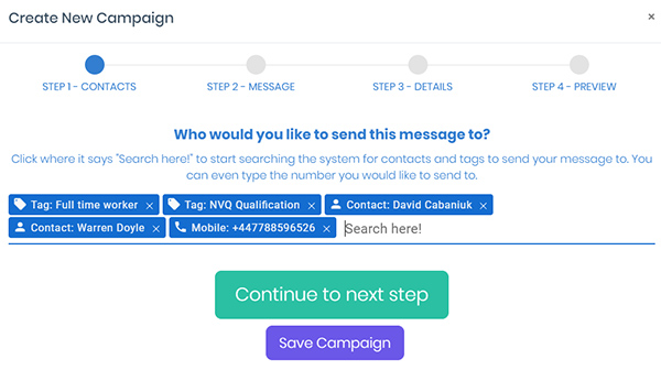 campaignMessage 1 - SMS Campaigns - Stand out from the Crowd
