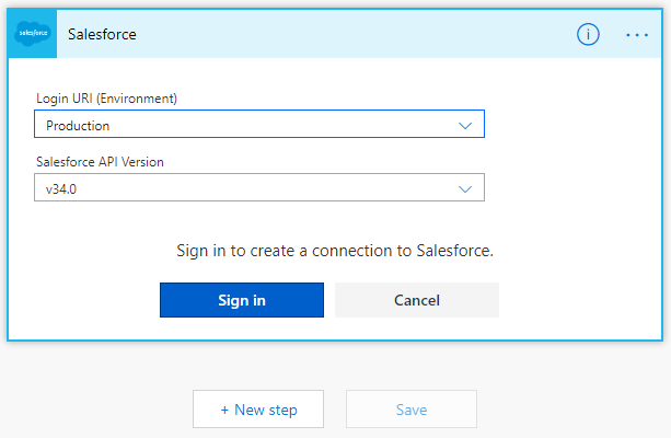 Connect to your instance of Salesforce