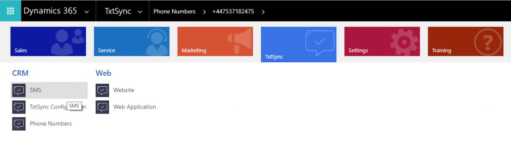 Navigate TxtSync SMS