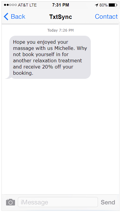 SMS Follow ups