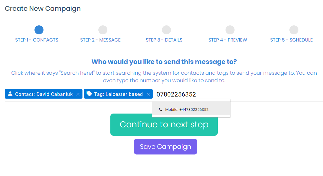 choosetheaudience e1552521725633 - Setting Up Your First Bulk SMS Campaign