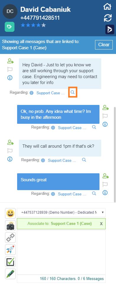 Filter SMS Conversation